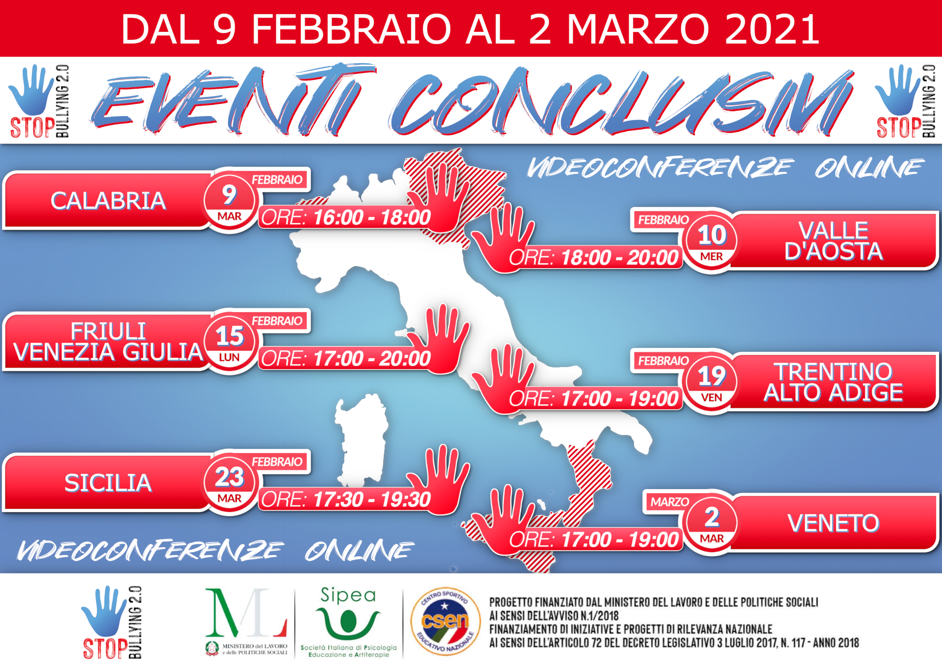 Stop Bullying 2.0 Eventi Conclusivi